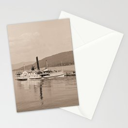 The Horicon I Steamboat (sepia) Stationery Cards