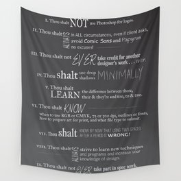The 10 Commandments for Graphic Designers Wall Tapestry