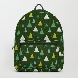 Holly Jolly Christmas Trees - Green Backpack