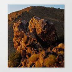 Rock in the Desert Canvas Print
