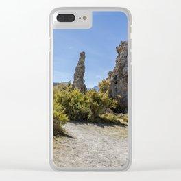 Mono Lake Tufa, No. 3 Clear iPhone Case