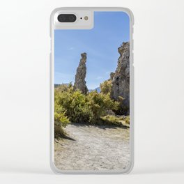 Mono Lake Tufa, No. 3 Clear iPhone Case