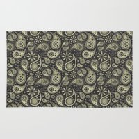 paisley Area & Throw Rugs featuring Paisley by Sixter