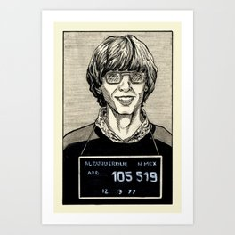 Bill Gates Mugshot Art Print
