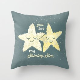 You are My Shining Star Throw Pillow