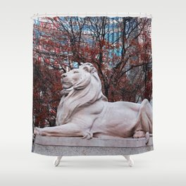Patience in Burgundy Shower Curtain