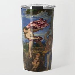 """Titian (Tiziano Vecelli) """"Bacchus and Ariadne"""", 1520-1523 Travel Mug"""