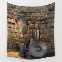 medieval Wall Tapestries featuring Medieval Weaponry by FantasyArtDesigns