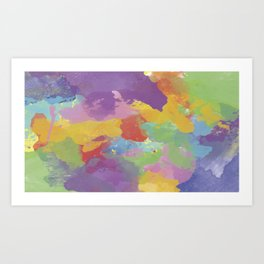 Watercolor Splatter Art Print