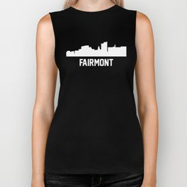 Fairmont West Virginia Skyline Cityscape Biker Tank