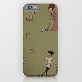 A Game of Croquet iPhone Case