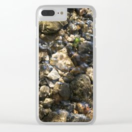Doulting Pebbles Clear iPhone Case