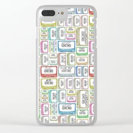 Tape Mix 2 Vintage Cassette Music Collection Clear iPhone Case