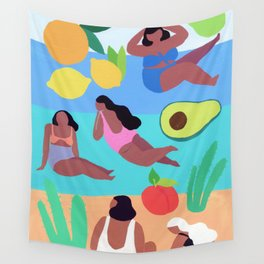 Fruity Beach Wall Tapestry