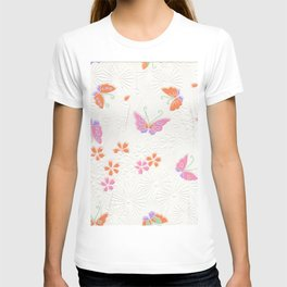 Pretty pink butterflies T-shirt