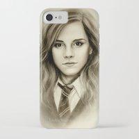 emma watson iPhone & iPod Cases featuring Hermione  Emma Watson  by Yuliya  Talanova