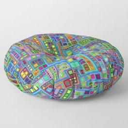 Tiled City Floor Pillow