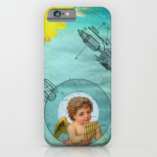 Angel playing music in space iPhone & iPod Case