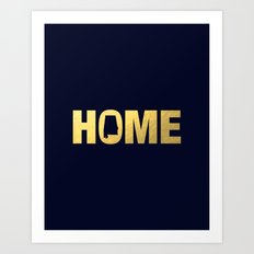 Alabama home state faux gold foil print Art Print