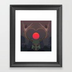 The last elk hunter Framed Art Print