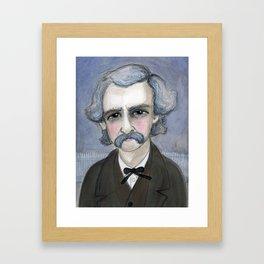 The Adventures of Mark Twain, A Victorian Writers Portrait Framed Art Print