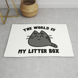 World Litter Box Rug