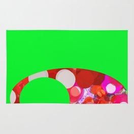 SexyPlexi dots on green  Rug