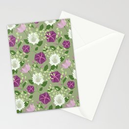 Moa Green Stationery Cards