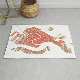 Venice city map classic Rug