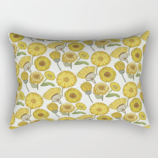Calendula Florals Rectangular Pillow