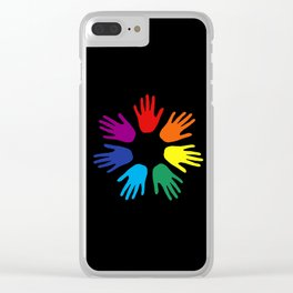 Rainbow hands Clear iPhone Case