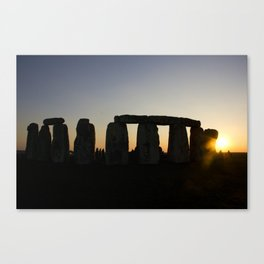 Stonehenge at Sunset Canvas Print
