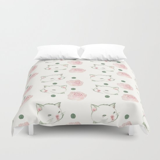 Cat's Waltz 고양이 왈츠 Duvet Cover