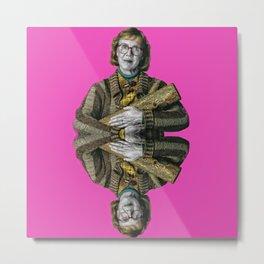 pinky log lady Metal Print