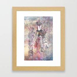 The Manly Carrot Framed Art Print