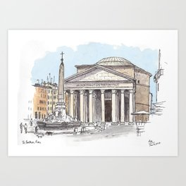 Pantheon, Rome Art Print