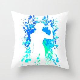 Anime Paint Splater Inspired Shirt Throw Pillow