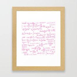 Pink Math Equations Framed Art Print
