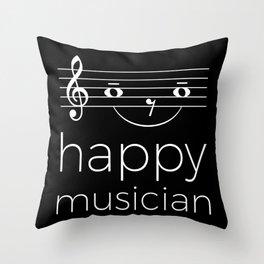 Happy musician (dark colors) Throw Pillow