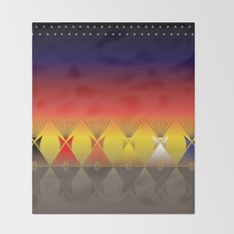 Night Tipi Throw Blanket