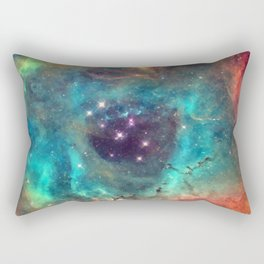 Colorful Nebula Galaxy Rectangular Pillow