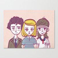 tenenbaums Canvas Prints featuring Tenenbaums by Pilotinta