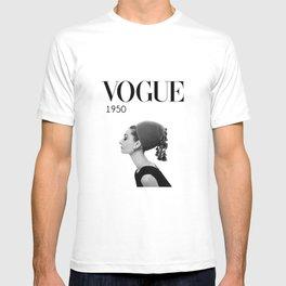 A digitally repainted  1950 Hepburn's Magazine cover T-shirt
