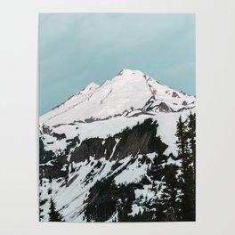 Turquoise Sky Mt. Baker Poster