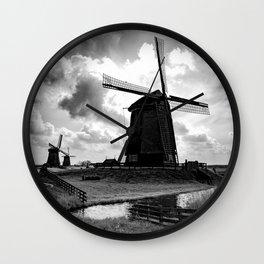 Shermerhorn Wind Mills Wall Clock