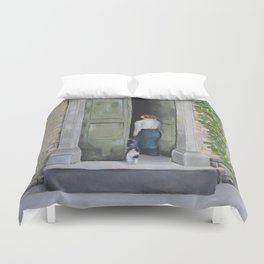 Going In and Out Duvet Cover