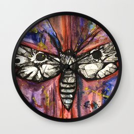 Splatter Moth Wall Clock