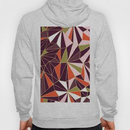 New Art Deco Geometric Pattern - Burgundi and Pink #deco #buyart Hoody
