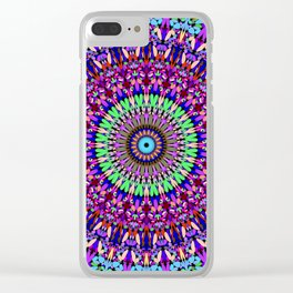 Pretty Gravel Mandala Clear iPhone Case