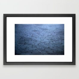 Estuary Rain Framed Art Print